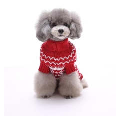 Liburan Meriah Natal Xmas Akrilik Peliharaan Sweter untuk Anjing Natal Kostum MYD01 Biru S Warna: MYD014 Merah Ukuran: XXL-Internasional