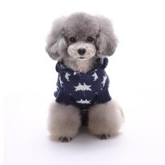 Liburan Meriah Natal Xmas Akrilik Peliharaan Sweter untuk Anjing Natal Kostum MYD01 Biru S Warna: MYD08 Biru Ukuran: XXL-Internasional
