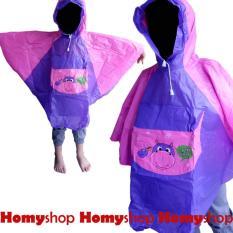 Homyshop - Jas hujan / Mantel / Rain Coat Model Poncho Cilik Indoplast Kids  [Merah]
