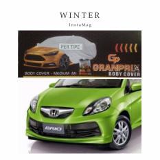 RAMe - Honda Brio GRANPRIX Car Body Cover / Selimut Mobil / Pelindung Mobil / Body Cover Mobil