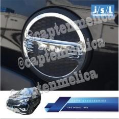 Aksesoris Mobil Honda BRV BR-V Luxury - Model Elegan Cover Pelindung Tank Tutup Tangki Bensin Mobil Crome Krom Silver Garnish Luxury Asesoris Mobil Acesoris Mobil BRV BR-V