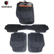 HONDA ELYSION TH'09 DURABLE Karpet Karet PVC 3 Pcs Comfortable Universal Black