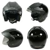 Beli Honda Helm Half Face Trx 3 Black Glossy Helm Half Face Online Terpercaya