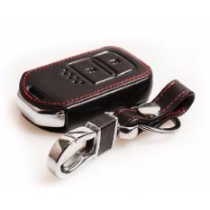 Honda HRV Jazz CRV BRV 2014-2018 Keyless Remote Kulit Case Penutup Kunci Mobil (Hitam)-Intl