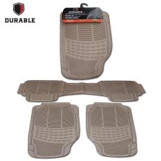 HONDA MOBILIO/BRV TH'16 DURABLE Karpet Karet PVC 3 Pcs Comfortable Universal Beigie