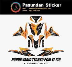HONDA VARIO TECHNO PGM-FI 125 CLICK HITAM ORANGE