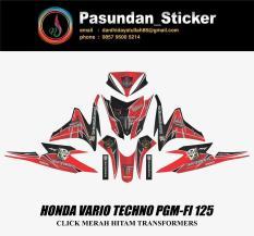 HONDA VARIO TECHNO PGM-FI 125 CLICK MERAH HITAM TRANSFORMERS