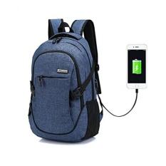 Hoperay A-001 Laptop Ransel, bisnis Ringan Nilon Air Tahan Serbaguna Bahu Buku Catatan Ransel dengan USB Pengisian Port dan Mengunci Cocok Dibawah 17