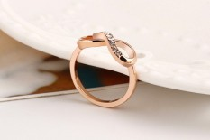 Hot Baru Desain Mode Mulia Rose Gold Color Zircon Cincin Kristal! CRYSTAL SHOP-Intl