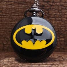 Beli Panas Retro Unik Batman Black Quartz Steampunk Pocket Watch Mens Analog Rantai Kalung Pria Womens Watches Hadiah Terbaik Intl Nyicil