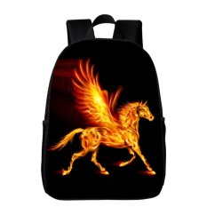 Jual Hot Fashion Printing Animal Flame Horse Kids Bayi Tas untuk Wanita Backpack Anak Sekolahnya Boys Bookbag Girls Hadiah -Intl