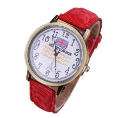 Hot Sale! Netral Diagram Retro Warna Personality Leather QUARTZ Wrist Watch