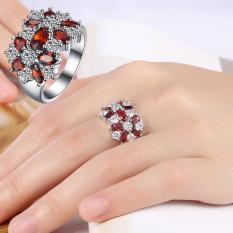 Review Hot Penjualan Retro Diamond Wanita Cincin Cincin Kawin Cincin Pertunangan Hadiah Terbaik Untuk Pacar Lambang Cinta Sejati Intl Oem