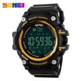 Cara Beli Hot Penjualan Skmei 1227 Watch Pria Olahraga Jam Tangan Smart Pedometer Bluetooth Pria Led Alarm Tahan Air Digital Watch Emas Intl