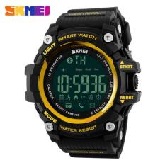 Harga Hot Penjualan Skmei 1227 Watch Pria Olahraga Jam Tangan Smart Pedometer Bluetooth Pria Led Alarm Tahan Air Digital Watch Emas Intl Skmei Online