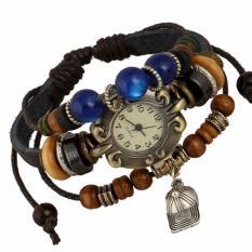 Jual Hot Jual Fashion Wanita Gaya Etnik Retro Kulit Watches W01304 Intl Import