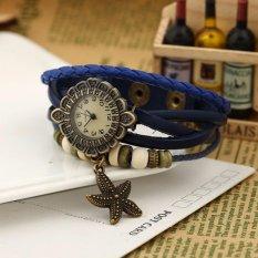 Hot Jual Fashion Wanita Gaya Etnik Retro Kulit Watches (W01319-C)-Intl
