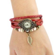 Hot Jual Fashion Wanita Gaya Etnik Retro Kulit Watches (W01319)-Intl