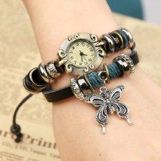 Hot Jual Fashion Wanita Gaya Etnik Retro Kulit Watches (W01333)-Intl