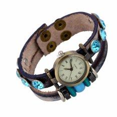 Hot Jual Fashion Wanita Gaya Etnik Retro Kulit Watches (W01372)-Intl