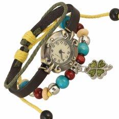 Hot Jual Fashion Wanita Gaya Etnik Retro Kulit Watches (WB01386)-Intl