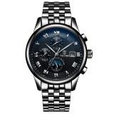 Jual Hot Tevise Mechanical Watch Leather Band Sport Jam Tangan Pria Merek Fashion Waterproof Horloge Hadiah Ulang Tahun Hitam Strip Hitam Intl Oem Branded