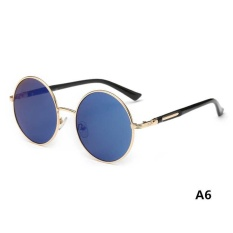 Hot Vintage Polarized John Lennon Sunglasses Hippie Retro Round Mirrored Glasses - intl