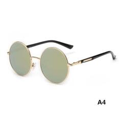 Panas Vintage Terpolarisasi John Lennon Kacamata Hippie Retro Bulat Cermin  Kacamata-Intl 3cd130787c