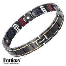 Hottime 109 Pcs Bio Elemen Energi Batu 3500 Gauss Magnetic Terapi Germanium Gelang 4 IN 1 MEN's Fashion Kesehatan Perhiasan 10155