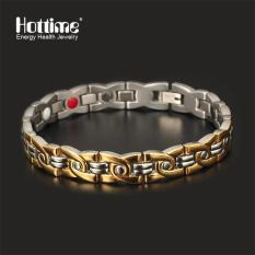 Harga Hottime 316L Stainless Steel Magnet Gelang Pria 4 In 1 Energi Kesehatan Gelang Gelang Dengan Magnetic Gold Plating Untuk Pria 10109 Intl Baru