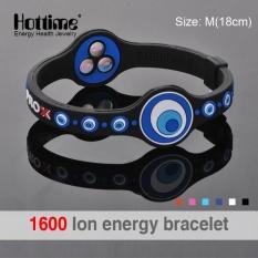 Hottime Eco Power Energi Hologram Gelang Gelang Menahan Keseimbangan Ion Magnetic Terapi Fashion Silicone Band Pengiriman Gratis PR0X2-Intl