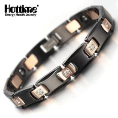 Beli Barang Hottime Sehat Tungsten Ladies Mens Gelang Gelang Rose Gold Warna Crystal 10065 Intl Online