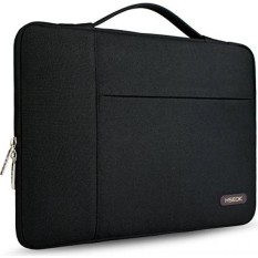 Hseok 14-15.6 Inch Multifungsi Laptop Lengan Perlindungan Kasus Sarung Tas untuk 15 Macbook Pro 2016/14- 15 ASUS Acer Lenovo Dell Ponsel Toshiba Chromebook Komputer Briefcase Tas Tangan, hitam-Internasional
