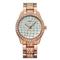 Huaxian Kingsky Merek Grosir Lady QUARTZ Watch Paduan Berlapis Emas Watch Fashion Fashion Watch Ledakan (WhiteRose Emas)