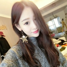 Huhuashizhe Overrated Long Rumbai Retro Temperamen Sederhana Gaya Eropa Beberapa Star All-Match Indah Earrings-Intl