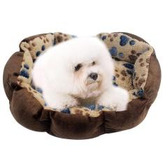 Jual Huohu Tempat Tidur Peliharaan Anjing Paw Prints Cocok Untuk Anak Anjing Dan Anak Kucing Mesin Bisa Dicuci Ultra Lembut Pet Sofa Kopi Gelap 13 7X10 6 Inch Bulat Internasional Tiongkok