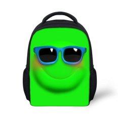 Huolala 2015 Fashion Emoji Smiley Mini Backpack untuk Mochila Cutecartoon Tersenyum Kids Backpack untuk Anak Laki-laki dan Perempuan Mochilainfantil-C0144F (Intl) -Intl