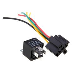 HuoLaLa aksesoris Mobil 5 pcs 12 V Volt SPDT Relay + Kawat Socket Car Alarm 30/40A