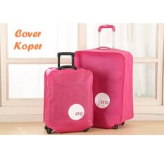 Toko Hw Cover Koper 20Inch Luggage Bag Cover Pink Hw Online