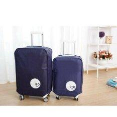 Harga Hw Cover Koper 22Inch Luggage Bag Cover Blue Navy Yang Murah Dan Bagus