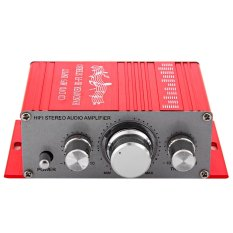 Review Hy 2001 Hi Fi 12V Mini Auto Car Stereo Amplifier 2 Channel Audio Support Cd Dvd Mp3 Input For Motorcycle Home Red Tiongkok