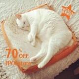 Beli Hyx Hot Sale Kucing Anjing Toast Bantal Berbentuk Roti Tawar Sofa Home Soft Mat Sleeper Pet Waterloo Pad Alas Yang Dapat Dicuci Intl Online Terpercaya