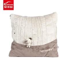 ICAROOM T-113D Cushion Blanket 2 In 1 Square Throw Pillow Terungkap Selimut untuk Mobil Kantor Sofa Travel Selimut Tipis MULTI Tujuan Grey-Intl