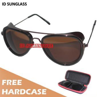 Matahari Kacamata Terpolarisasi Biru Lapisan Cermin Mengemudi Laki-Laki Eyewear Untuk Kacamata .