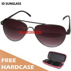 Toko Id Sunglass Kacamata Aviat Pria Wanita Frame Hitam Lensa Coklat Sun 1003 02 Lengkap
