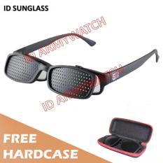 Cara Beli Id Sunglass Kacamata Pinhole Terapi Pria Wanita Frame Hitam Lensa Hitam Sun 1035 04