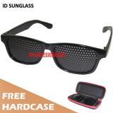 Beli Barang Id Sunglass Kacamata Pinhole Terapi Pria Wanita Frame Hitam Lensa Hitam Sun 1035 05 Online