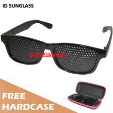 Toko Id Sunglass Kacamata Pinhole Terapi Pria Wanita Frame Hitam Lensa Hitam Sun 1035 05 Oem Online