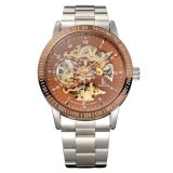 Ik Mewarnai Fashion Mechanical Skeleton Watch Auto Stainless Steel Jam Tangan Pria Jam Tangan 16 Gaya Intl Terbaru