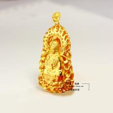 Imitasi emas Kepala Guanyin gantung papan nama ekstra besar Dewi Kwan Im liontin selamat untuk mengirim